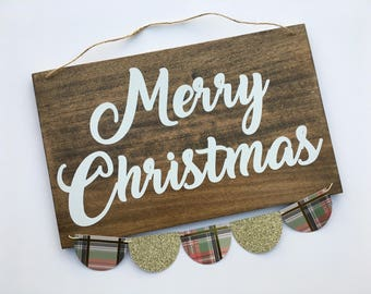 Wooden Merry Christmas Sign, Merry Christmas decor