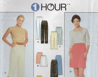 Simplicity 8740 Misses Pants Or Shorts And Skirt Uncut Pattern Size Large-Xtra Large