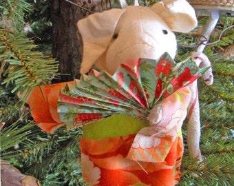 Muslin Pig Ornament.