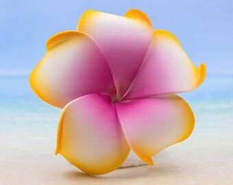 Plumeria Hair Clip,   Flower Hair Clip,  Hawaii Hair Accessory, Tropical Flower Clip