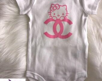 Hello Kitty Baby Onesie Babyshower Gift | First Birthday | Onesie Girls | Designer Inspired