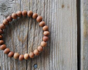 Sandalwood bracelet yoga bracelet wood bracelet mala beads meditation beads yoga beads yoga jewelry