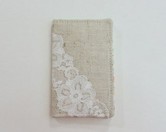 Linen and Lace Mini Wallet