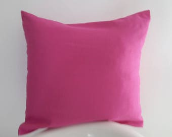 Bright pink pillow cover; 100% cotton