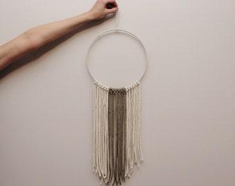 Neutral Macrame Wall Hanging // Customizable Handmade Weave // Wall Decor // Nursery Bedroom Decor // Natural Home Decor // Hand Woven