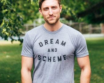 Dream & Scheme - Vintage Unisex Triblend Next Level Apparel Hand Printed T shirt