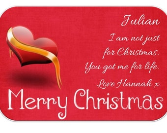 Personalised Christmas Love Wallet * Purse Insert Cards