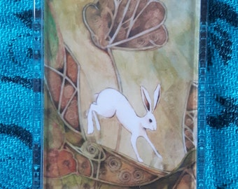 White Hare Pagan Fridge Magnet