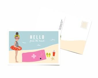 Hello Beach Postcards