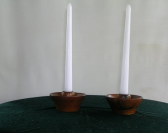 Persimmon Wood Candle Holders