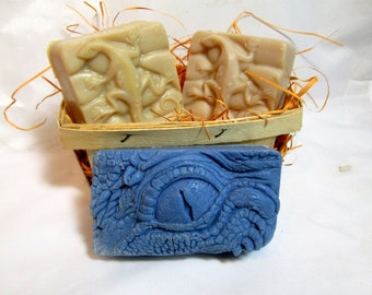 Lizard Soaps 3 Bars Hand Crafted FREE SHIPPING