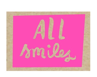 All Smiles - set of 8 boxed notecards