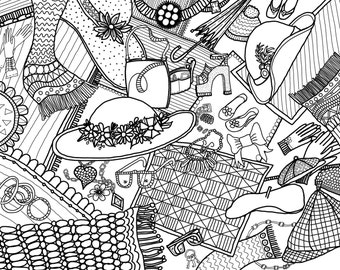 More Accessories No.4 - Adult Coloring page