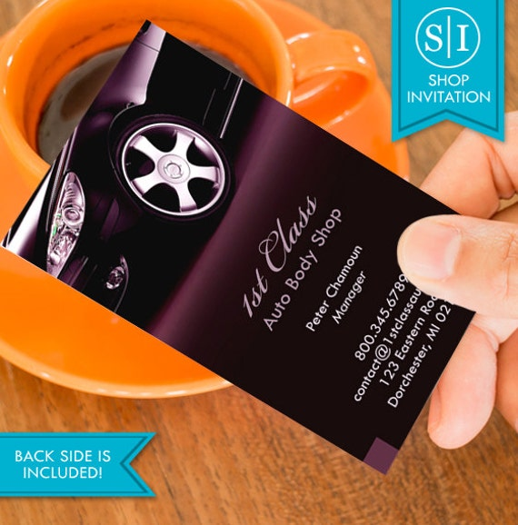 Auto body shop business card free shipping from shopinvitation on auto body shop business card free shipping colourmoves