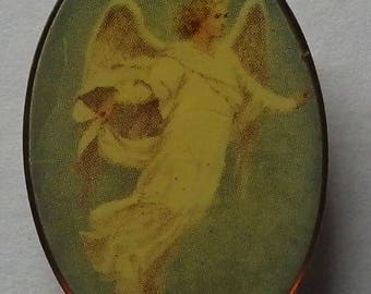 Vintage Guardian Angle Pin Floating Angel