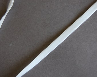"""3yds - 1/4"""" Off White Velvet Ribbon"""