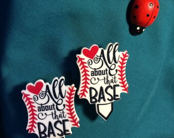 Cute Sport Baseball Sports ALL About that BASE Ball Love Clog Shoe Charms