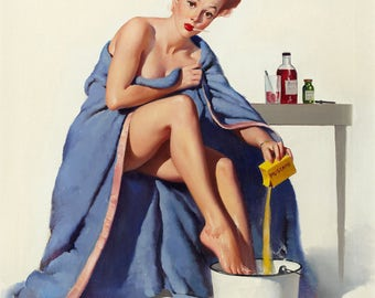 Pin Up Girl Art Print Reproduction, it's_nothing_to_sneeze_at_1947 by Gil Elvgren
