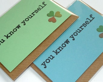 You Know Yourself - Irish Slang - Magnetic Greeting Card - Handmade in Ireland