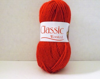 Oxford Classic Worsted Yarn ~ Medium # 4 ~ Red ~ #28910
