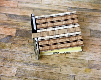 Sticky note holder, Plaid, posta, note (5479)