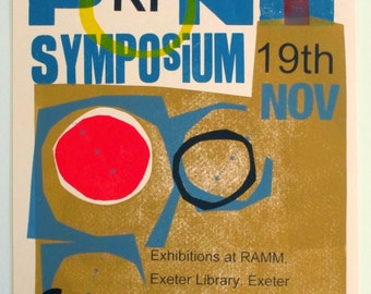 Hand printed poster. Redefining Print the Symposium. Limited edition