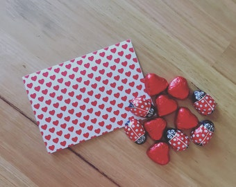 Love Hearts - A6 Greeting Card