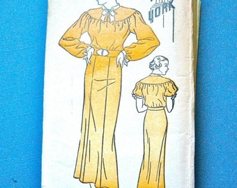 Spring Sale 1930s New York 538 Vintage Sewing Pattern  Bust 32 inches