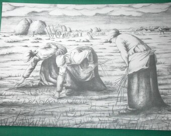 print/farmers women at harvest