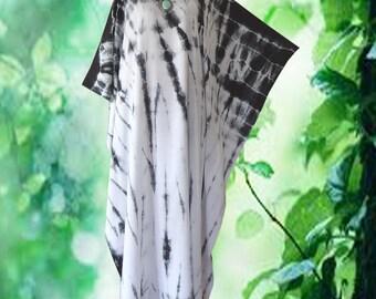 Minimalist Shibori Hand Dyed Artwork Kaftan Caftan Dress