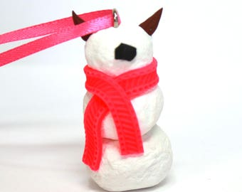 Timid SnowMonster Ornament (HotPink)