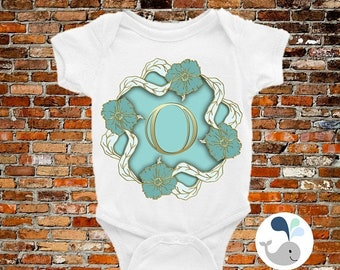 ON SALE Letter O Baby Onesie