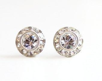 Clear crystal stud earrings - Clear crystal earrings - clear Swarovski earrings - crystal studs - crystal earrings - diamond like clear