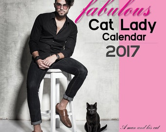 2017 The Fabulous Cat Lady Calendar, Cat lover gift, Cat, Cats, Cat Lady, Cat Calendar, Cat lover, Cat Calendar 2017