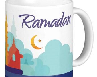 Ramadan Colored silhouettes, Ramadan Gift Mug, Ramadan Mug With color silhouette