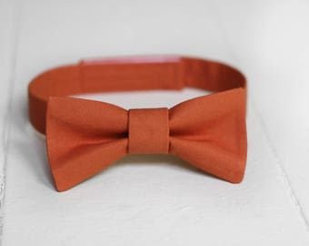 Boys Burnt Orange Bow Tie Toddler Orange Bow Tie, Orange Baby Bow Tie, Little Boys Bow Tie, Orange Toddler Bow Tie, Toddler Boys Bow Tie