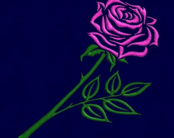 embroidery design Rose Flower 4x4 pes hus jef dst vip vp3 exp in zip