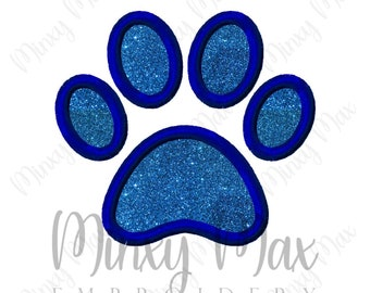 Paw Print Applique Machine Embroidery Design 3x3 4x4 5x7 6x10 INSTANT DOWNLOAD