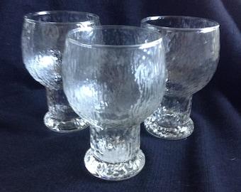 3 Kekkerit STYLE Large Glasses. Vintage  Danish Modern.  Mid century modern, Eames era.  NOT Iittala!
