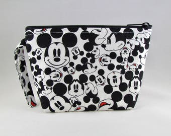 Many Faces of Mickey Makeup Bag - Accessory - Cosmetic Bag - Pouch - Toiletry Bag - Gift