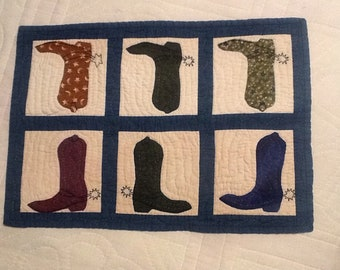 Western boot table topper19x14
