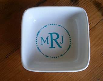 Monogrammed Coaster or Jewelry Catchall