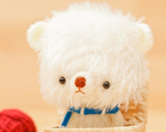 Plushie bear, polar softie  -made to order - Shiro -