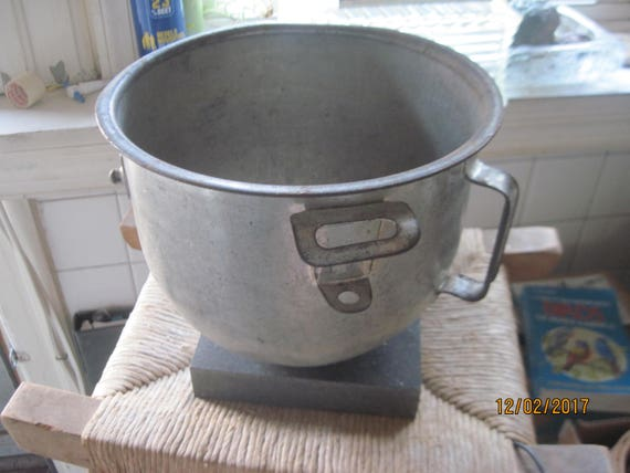 Vintage metal mixing bowl