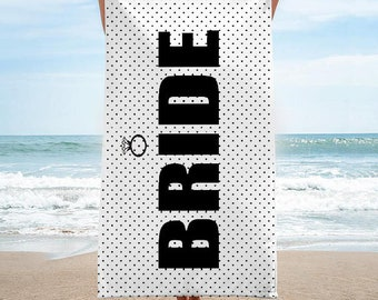 Bride Beach Towel | Bride Tribe Beach Towel | Squad Beach Towel * Can be customized!