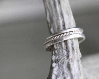 Custom Stacking Rings - Set of 3 - Delicate Ring Set - Stackable Ring Set - Boho Stacking Ring - Dainty Ring Set - Silver Stacking Ring