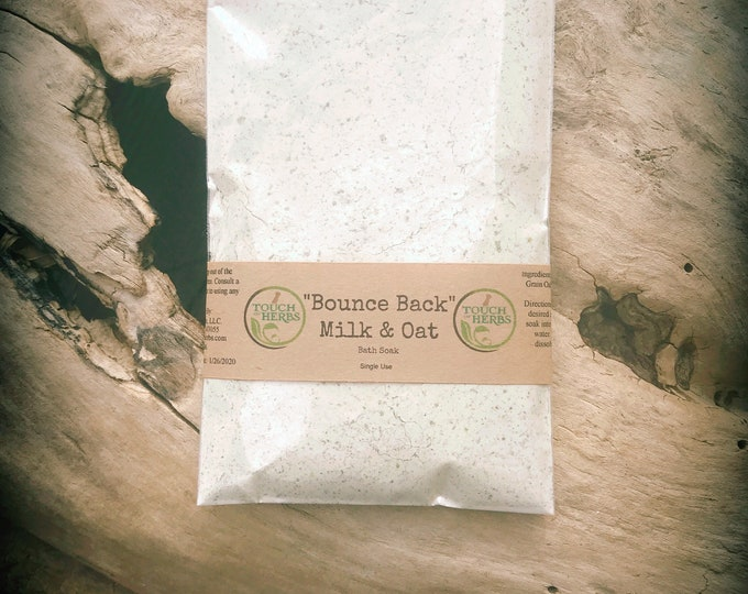 Bounce Back Milk & Oat Bath - Pain Relief Bath - Cold and Flu Bath