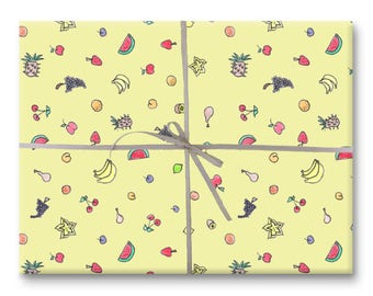 Juicy Fruits Gift Wrap - Wrapping Paper Sheet