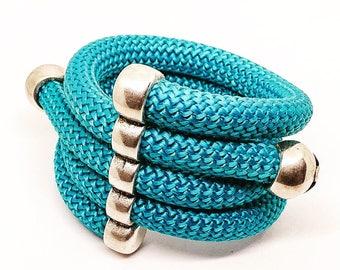 Adjustable climbing rope bracelet