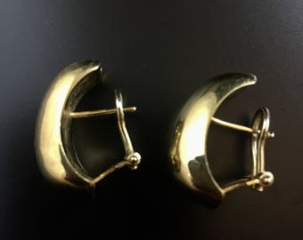 Italian 14K yellow gold earrings